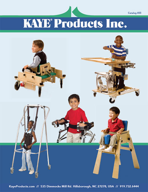 Kaye Products No 35 catalog cover featuring children using our devices